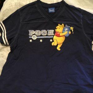 Vintage Winnie the Pooh Varsity Stripe Tee